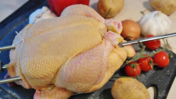 Marinating chicken with Kosher salt